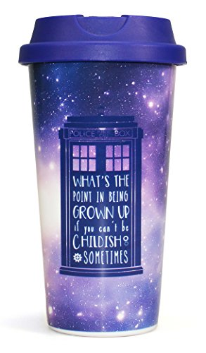 (Doctor Who Travel Mug Galaxy Half Moon Calici Tazze )