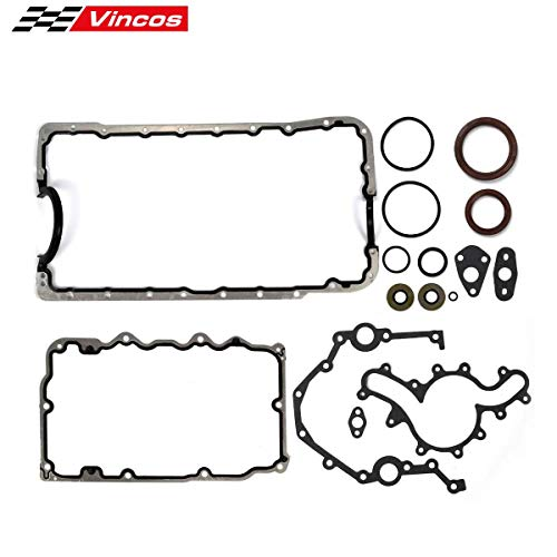 Vincos Lower Gasket Set with oil pan gaskets seals Replacement For Ford 4.0L SOHC 1997 98 99 2000 01 02 03 04 05 06 07 08 09 10 11 (Ford Oil Pan)
