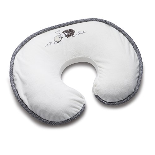 (Boppy Luxe Nursing Pillow and Positioner, Sherpa Sheep, Ultra-soft minky fabric on one side with adorable appliqué and coordinating piping)