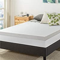 Best Price Mattress 3 Inch Topper Memory Foam Cover, Short Queen