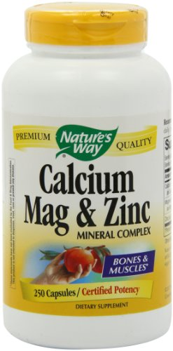 Nature Way кальций, магний и цинк 250 Капсул