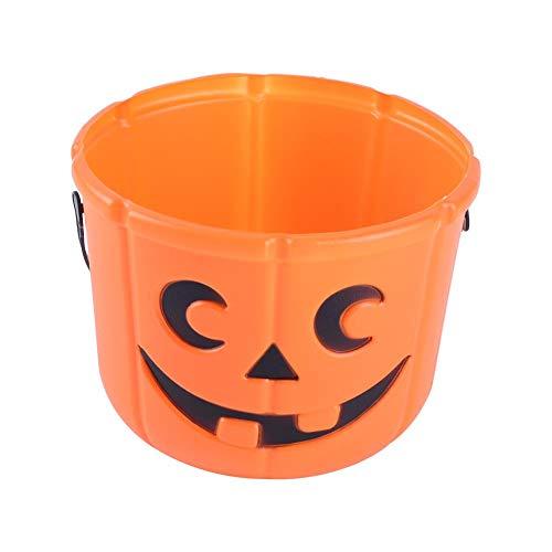 (Asiproper 3D DIY Halloween Pumpkin Bucket Children Kids Portable Pumpkin Candy)