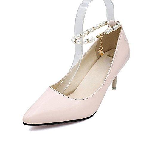 Balamasa Per Donna Fibbie In Metallo Fibbie Spillo Stiletto Pompe In Uretano Scarpe Rosa