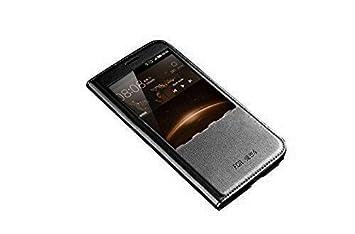 ELTD Huawei G8 flip Cover, Slim flip funda carcasa case para Huawei G8, Negro