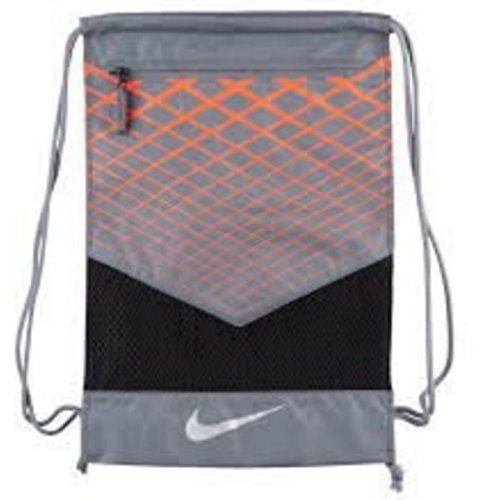 13 In Corded String (NIKE Vapor Energy Team Training Drawstring Gymsack Backpack 600 Denier Sport Bookbag (Anthracite/Wolf Grey/Hyper Crimson with Reflective Silver Signature Swoosh))