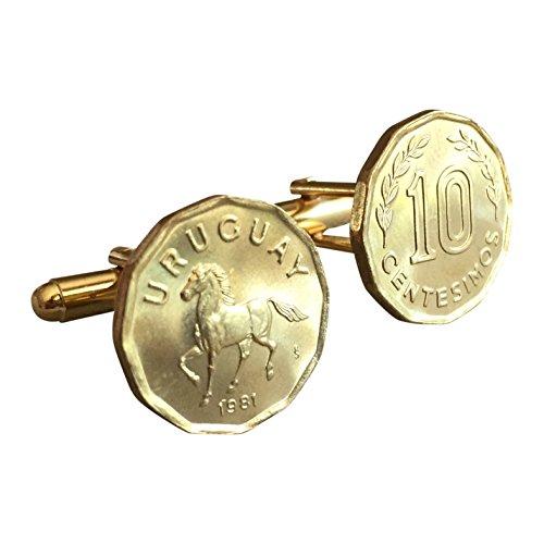(Ammo Gift Box Uruguay 10 Centesimos Horse Coin Cufflinks)