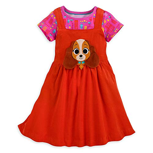 Disney Lady and The Tramp Dress Set for Girls Size 5/6 -