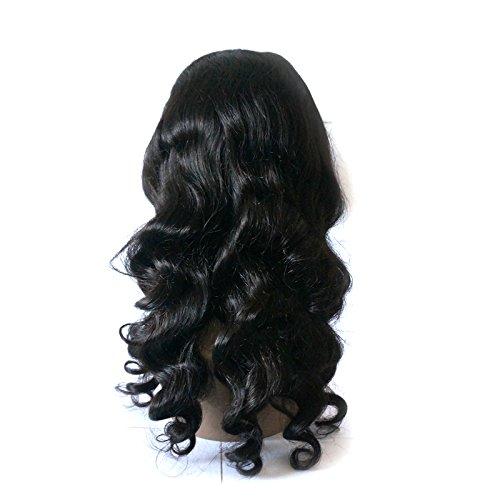 Enoya Hair 360 Silk Top Lace Frontal Loose Wave Human Hair Wigs-Glueless 180% Density Brazilian Virgin Remy Wigs with Baby Hair (silk top 20'') by Enoya (Image #3)