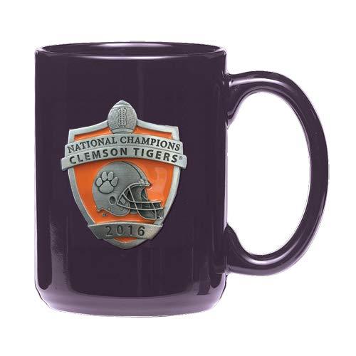 1pc, Pewter Clemson National Champions 2016 Coffee Mug, Purple
