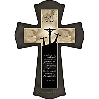 Graham Dunn Jesus Paid it All Natural 8.5 x 12 Solid Pine Wood Wall Hanging Cross P