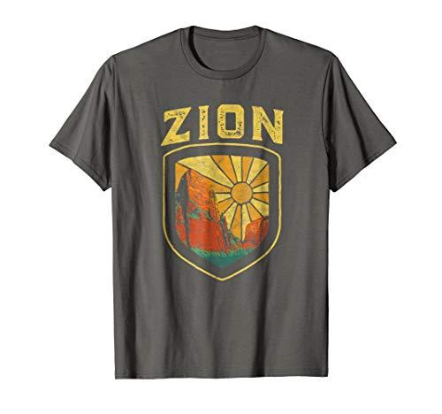 - Zion National Park Vintage Badge Retro Graphic Shirt