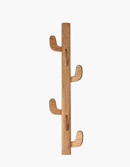 3145d7f647 Amazon.com: XM ZfgG Vertical Coat Rack Wall Mounted, Solid Wood Tree ...