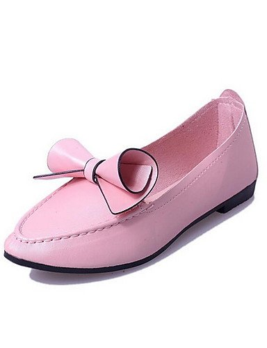 us8 Tacón cn39 uk6 cn39 eu39 us8 eu39 Mocasines Negro mujer Rosa Punta purple Semicuero eu39 Plano pink uk6 cn39 ZQ purple Morado gyht us8 uk6 Zapatos de Redonda Casual qpggRI