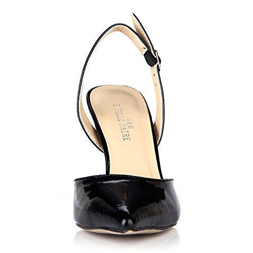 conseils produits l'été les la du Black cuir chaussures de noir des vernis Cliquez dans nouveaux haute sur femmes talon après grand w85n5gXq