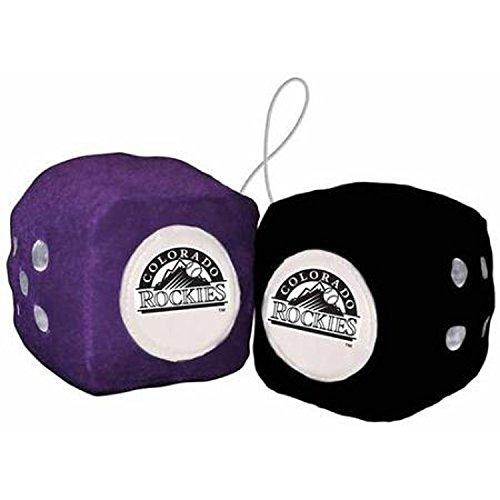 Colorado Rockies Plush (MLB Colorado Rockies Plush Team Fuzzy Dice, One Size, Purple)
