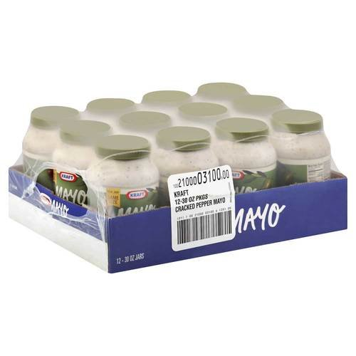 Kraft Mayo Olive Oil (Kraft Mayonnaise with Olive Oil and Cracked Pepper, 30 Ounce -- 12 per)