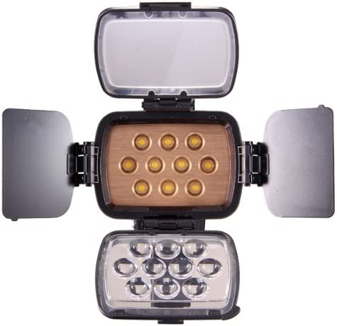 Pentax Full LED Lights for Dslrs and Camcorders Canon Professional /& Improved Quality Sony Nikon Olympus F750 Battery High Brightness 10 LED Video Light with Adjustable Dimmable Knob Kaavie Panasonic