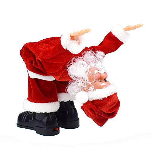 Pausseo Battery Operated Flip-Flop Music Stun Santa Claus Toy Twisted Hip Twerking Singing Ornaments Presents Educational Dolls for Boys Girls Xmas Decor for Kid and Funny -