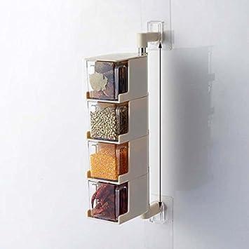 Cocina creativa pasta perchero de pared caña de condimento ...
