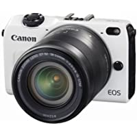 Canon EOS M2 Mark II 18.0 MP Digital Camera with 18-55MM F/3.5-5.6 IS EF-M STM Lens (White) - International Version (No Warranty)