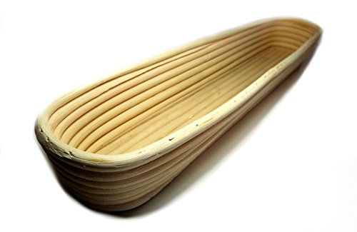 Banneton Proofing Basket Set - Premium 17 Inch Baguette Bread Proofing Brotform, Linen Cloth Liner and Instructions by The Great Bake Co by The Great Bake Co. (Image #4)