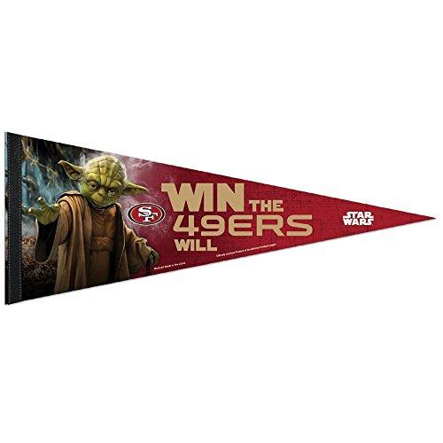 San Francisco 49ers NFL Star Wars Yoda Premium Pennant (12in. x 30in.)