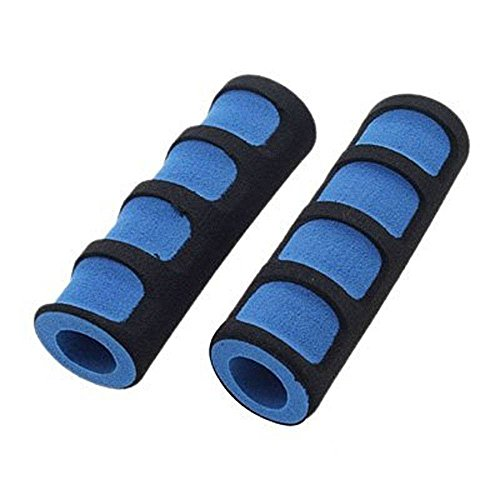 Price comparison product image Superland 1 Pair Mountain Bike Bicycle Cycling Foam Sponge Soft Handlebar Grips Anti-slip Blue