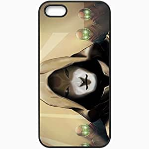 Personalized iPhone 5 5S Cell phone Case/Cover Skin Art the legend of korra amon chi blockers hood mask shine films Black