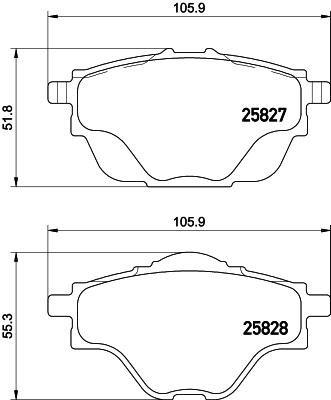 Mintex Pad Brake Rear (Replacement Mintex Rear Brake Pads (Full set for Rear Axle) MDB3402)