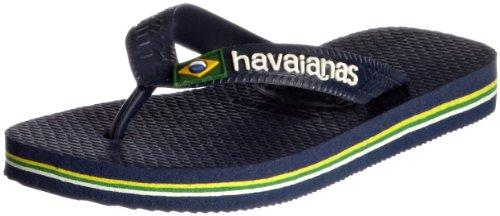 Havaianas Brasil Logo Chanclas, Unisex-Adultos Azul (Navy Blue)