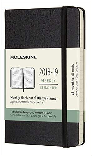Moleskine Wochenkalender, 18 Monate, 2018/2019, Pocket ...
