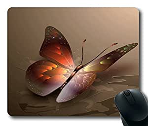 Arange Butterfly Masterpiece Limited Design Oblong Mouse Pad by Cases & Mousepads by mcsharks