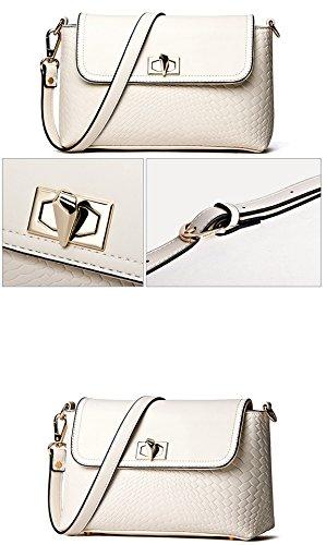 Longzibog Dual verstellbare Schultergurte und Hängeschlaufenband Mode Simple Style Fashion Tote Top Handle Schulter Umhängetasche Satchel Schwarz S7i1K
