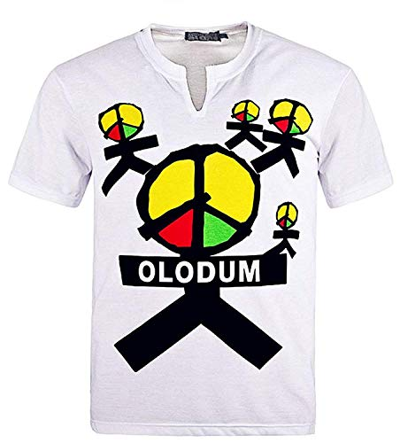 for Michael Jackson Olodum T-Shirt Mj Costume They Don't Care About Us (M, White) -