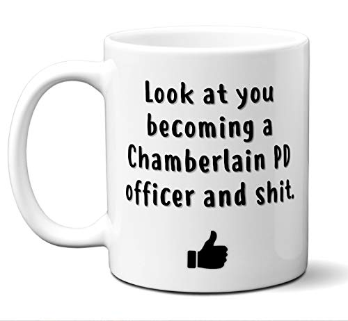Chamberlain Police Department Graduation Gifts. New Rookie Police Academy Officer Graduates Mug Coffee Cup Men Women Him Her School Graduating Students Card Funny Grad Congratulations