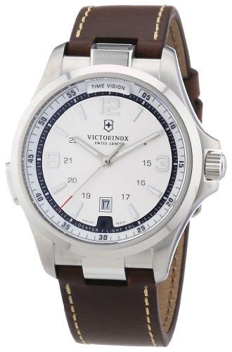 Victorinox Swiss Army 241570 – Reloj analógico de cuarzo para hombre con correa de piel, color marrón