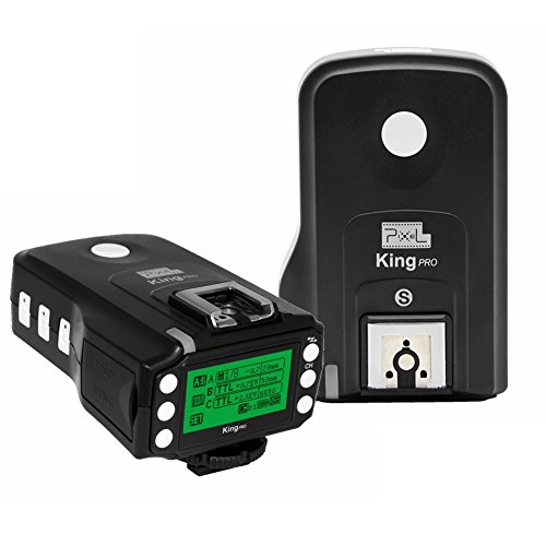 PIXEL 2PCS King Pro for Sony TTL HSS Flash Transceiver for Sony Mi Shoe A7、A7R、A7RII、A6300、A65、A77II、RX10III, A6000、RX1RII、A7II、A7SII、A7S by Pixel