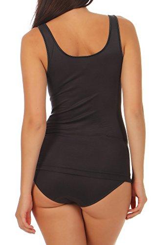 Damen Achsel-Top Shirt ohne Arm Unterhemd Micromodal mit Elasthan - Schöller - Farbe Anthrazit - Größe 46