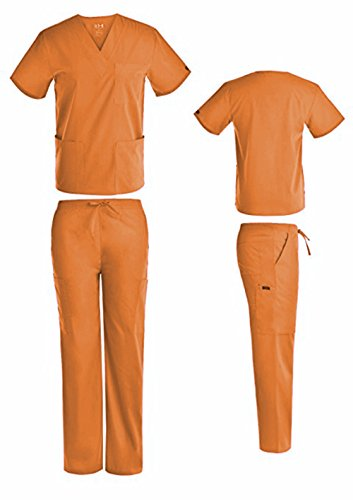 DSF Medical Uniform Unisex Scrub Set, Pumpkin, ()