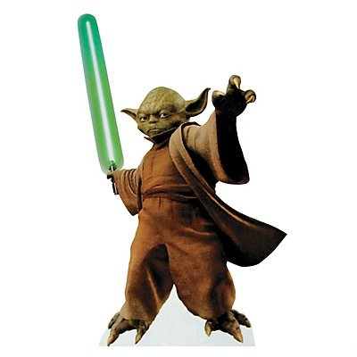 Yoda With Lightsaber Stand-Up 2 pack