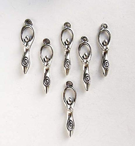 Unique Selection Charms 6 Antique Silver Fertility Goddess Charms