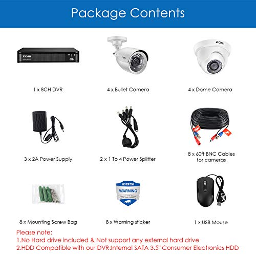 ZOSI FHD Home Security Camera System Indoor/Outdoor