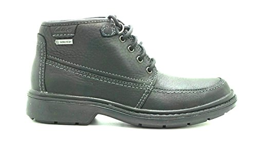 CLARKS Rockie Top GTX Mens Black Leather Boot 7-Medium