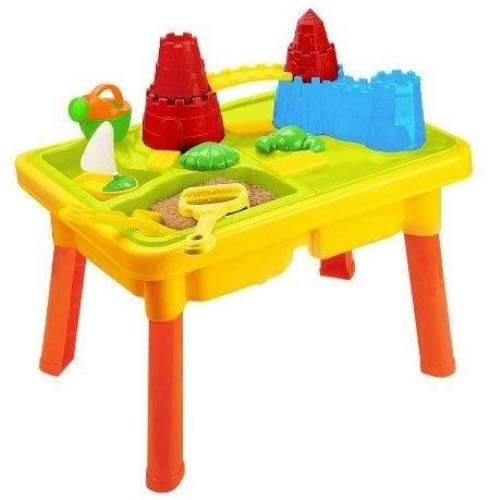 BT25C-AZ AZ Trading /& Import BT25C 23 Sandbox Castle 2-in-1 Sand and Water Table with Beach Play Set for Kid StealStreet Home