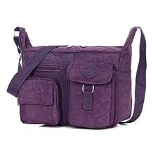 Fadsace Women Nylon Casual Shoulder Bags Handbag Travel Bag Messenger Cross Body Bags