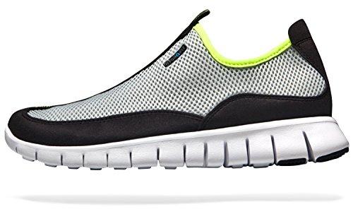 L510-LG_265 Men 8.5 D(M) Tesla New Men's ultra lightweight running shoes comfortable water shoe sports trail cushionning aqua outdoor skin shoes