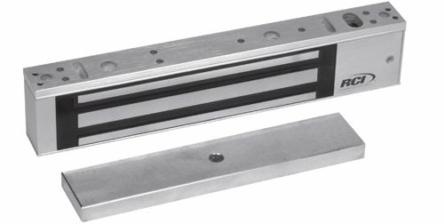 Rutherford Controls 8371 28 Single Minimag Brushed Anodized Aluminum Electromagnetic Lock, 12/24 VDC (Pack of 1) by Rutherford Controls