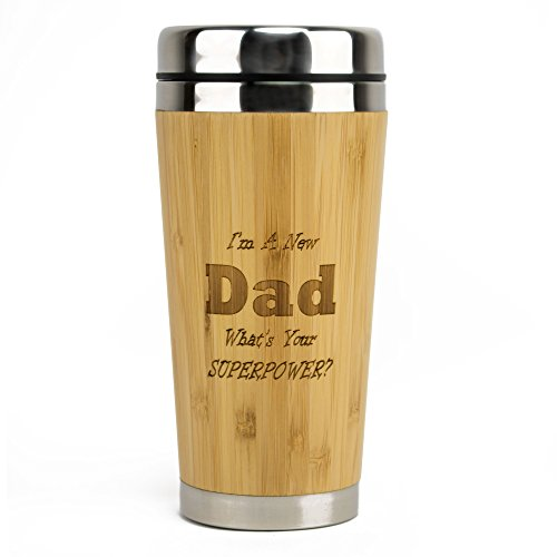 Keepsake Secret (Muttmee New Dad Engraved Bamboo Travel Mug - Unique Gift Box - Great Way to Congratulate Dads - Keepsake Gift for Father's Day, Christmas, Birthday, New Baby, or Just Because - by)