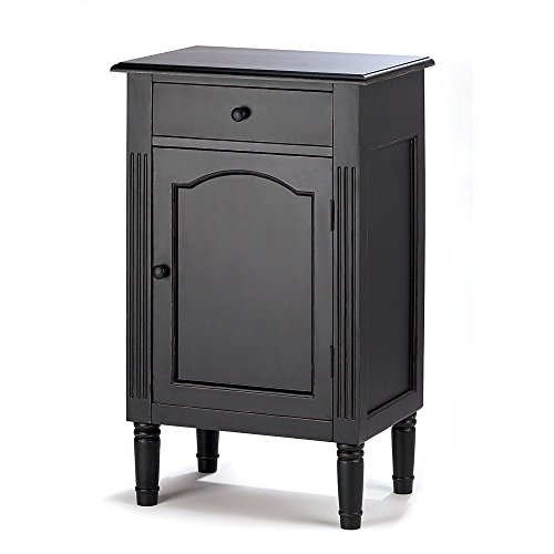 Koehler 39092 29 inch Antiqued Black Wood Cabinet