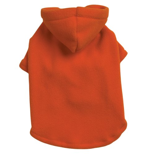 Casual Canine Polyester Basic Fleece 10-Inch Dog Hoodie, X-Small, Orange by Casual Canine (Image #2)